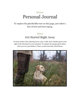 Personal journal - Office Templates