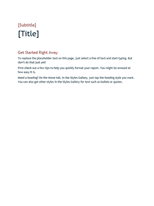 Basic Design Blank Template  Journal Template For Word