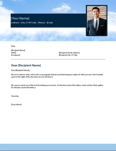 Blue sky cover letter