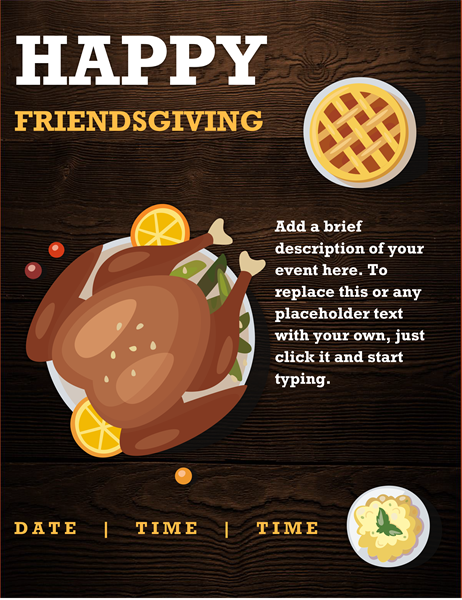 Friendsgiving flyer
