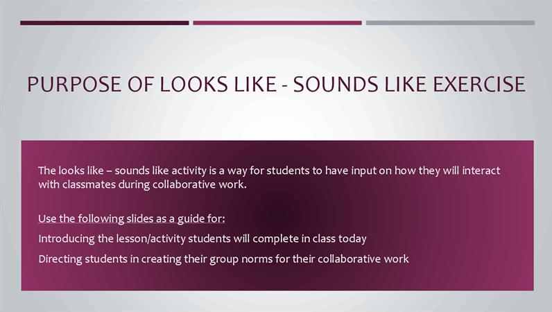 Looks like sounds like presentation