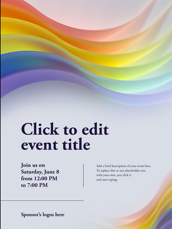 Pride rainbow poster