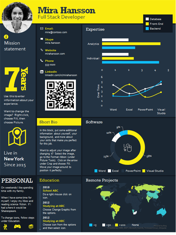 Tech infographic resume