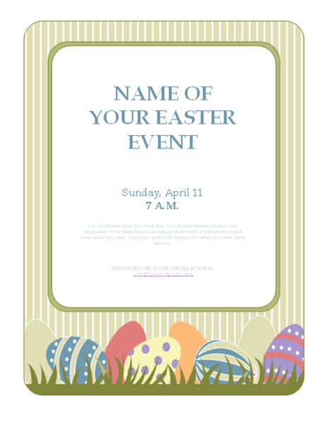 Flyer for Easter event (with eggs)