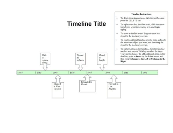 Timelines Officecom - Plain timeline template