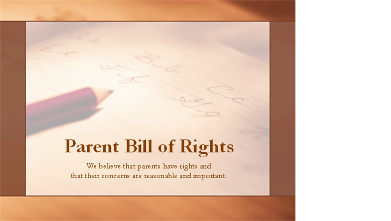 Parent Bill of Rights presentation