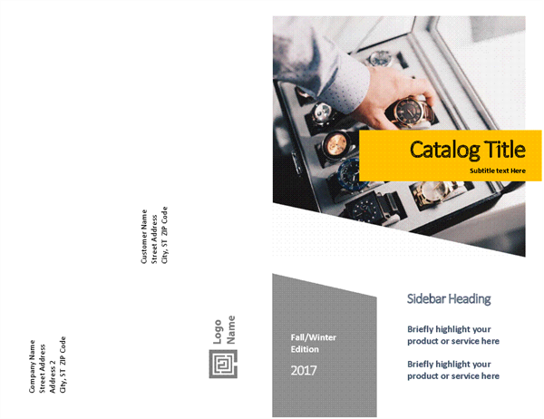 Product catalog (Forms design, half-fold, 8 pages)