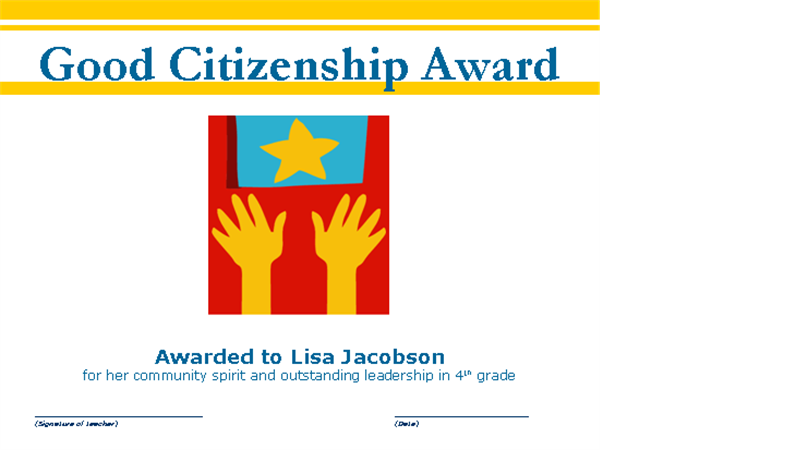 Good citizenship award