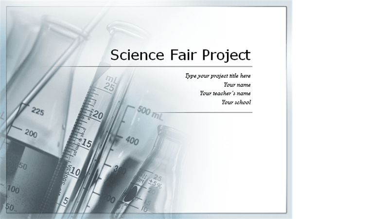 science fair project template