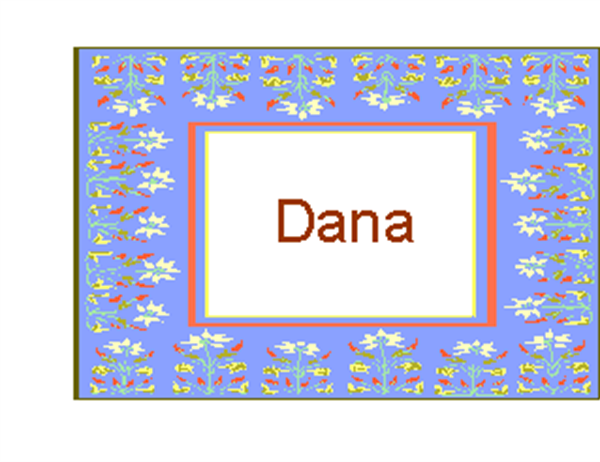 Name badges (8 per page)