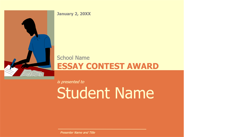Essay contest award