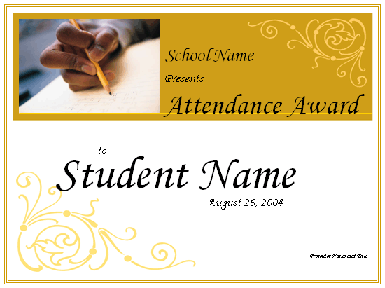 Student attendance award