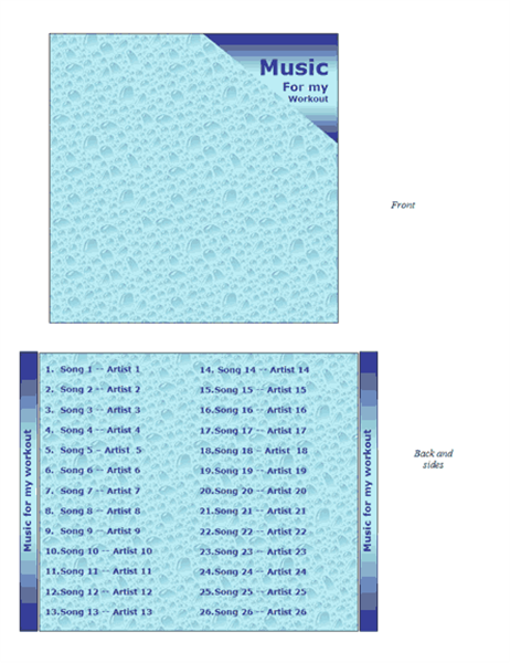CD jewel case insert (water design)