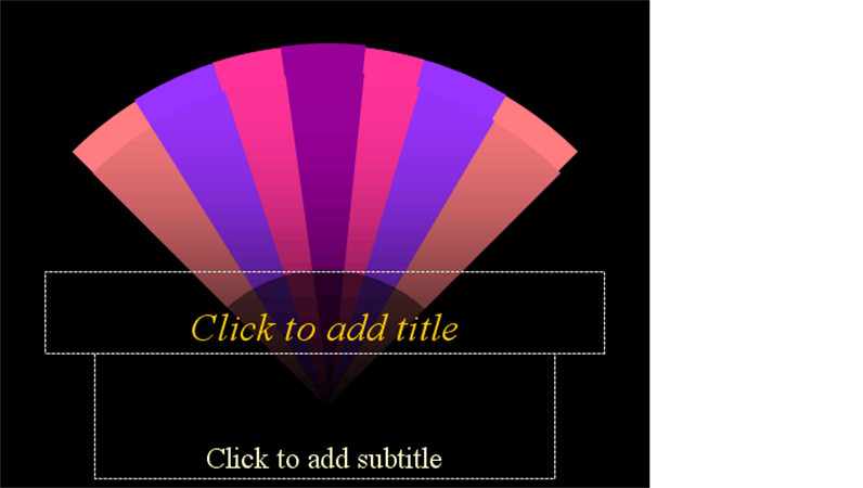 Fans design template