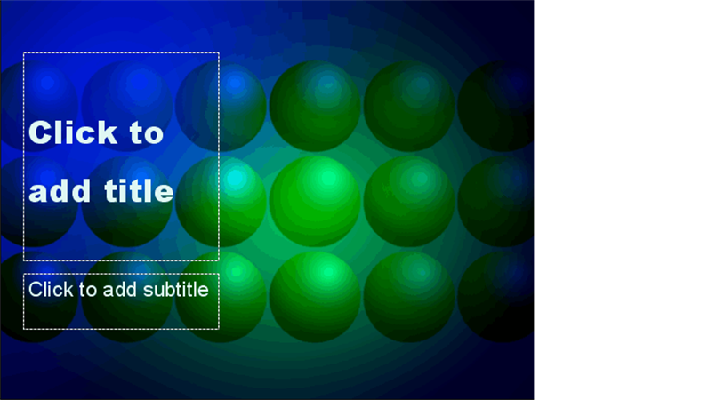 Blue and green balls design template
