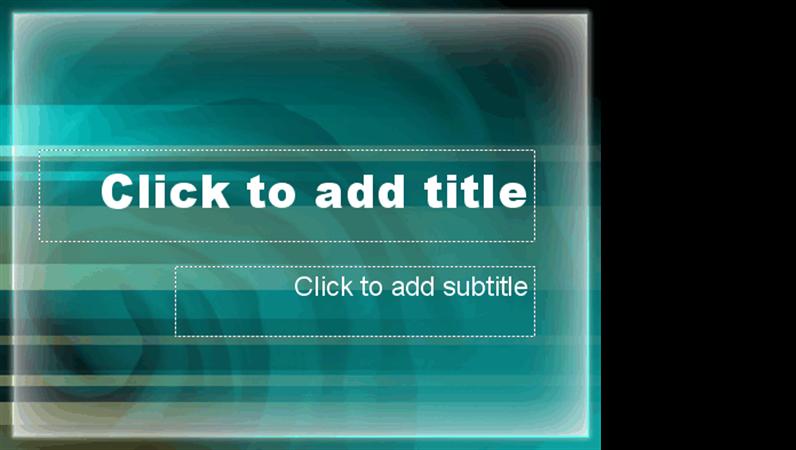 Blue-green cave design slides
