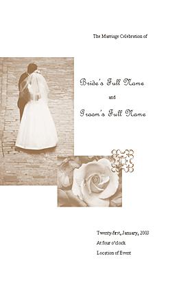 Wedding program (Juliet design)