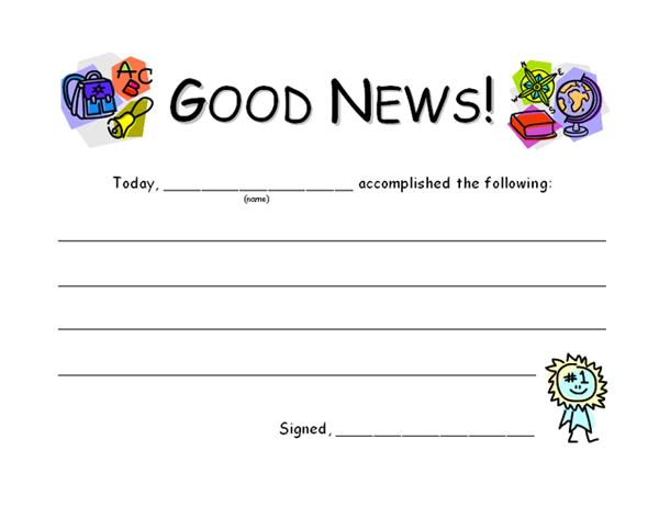 Student good news report