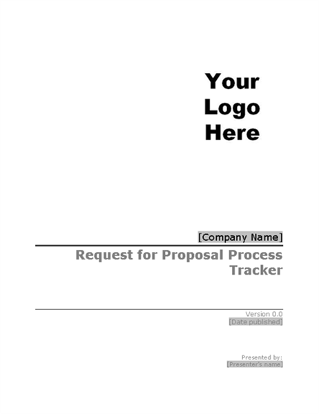 Request For Proposal Rfp Process Tracker
