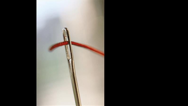 The eye of the needle image slide