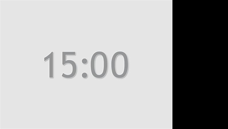 Fifteen minute timer slide (grey)