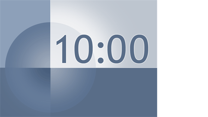 10 minute timer slide - office templates, Modern powerpoint