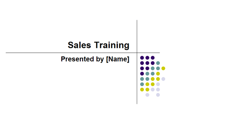 sales training presentation