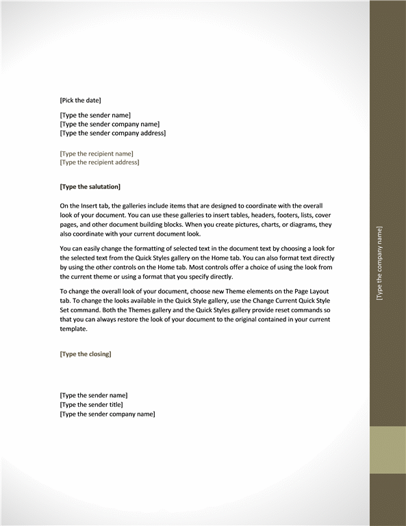 business letter template
