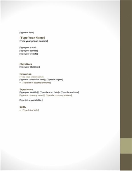 Resume (Adjacency design)