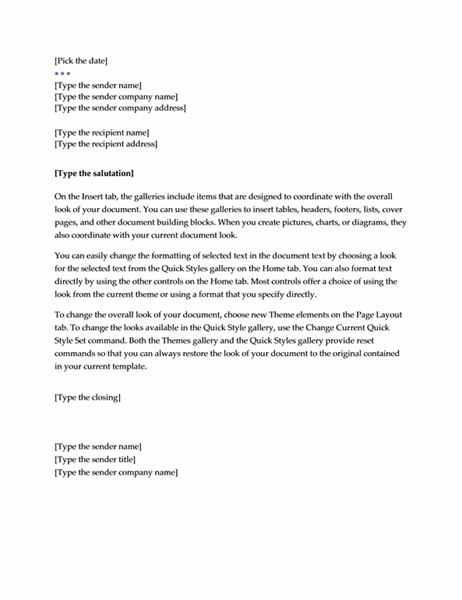 Beautiful Letter (Executive Design) Regard To Executive Letter Template