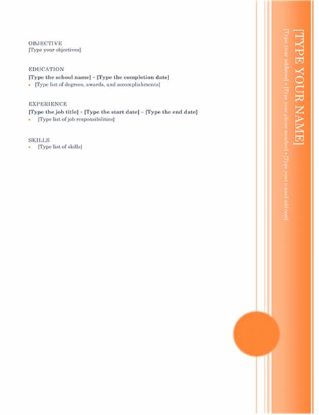 Resume (Oriel theme)