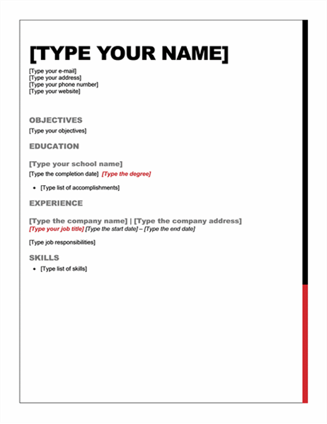 resume essential design office templates