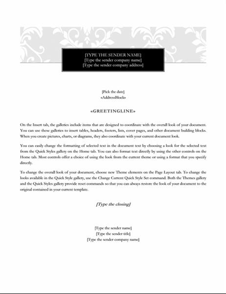 resume  black tie design