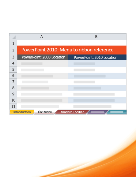 PowerPoint 2010: Menu to ribbon reference workbook
