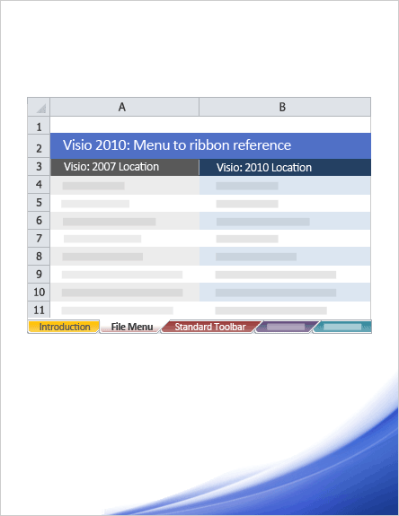 Visio 2010: Menu to ribbon reference workbook