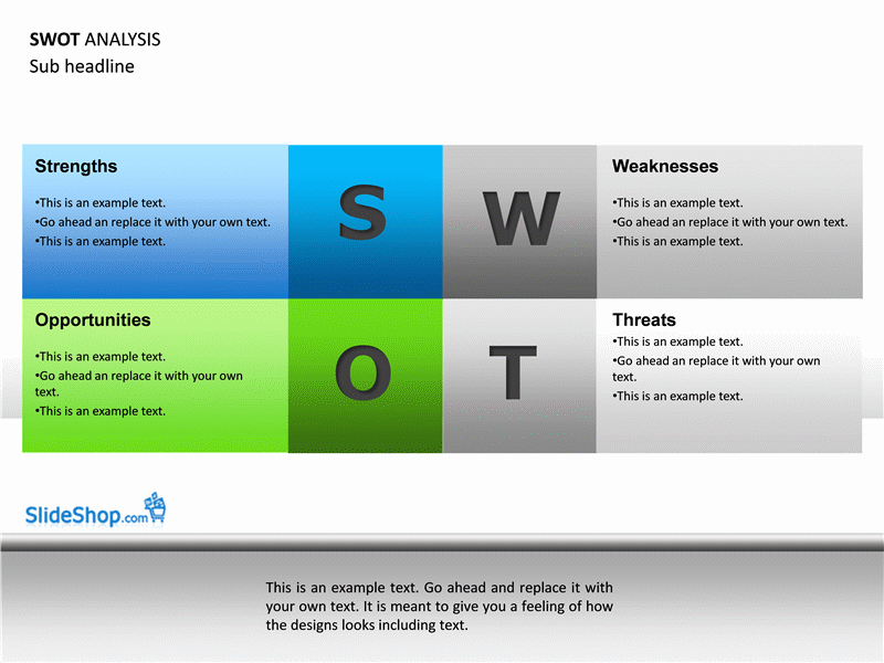 swot analysis examples - office templates, Modern powerpoint