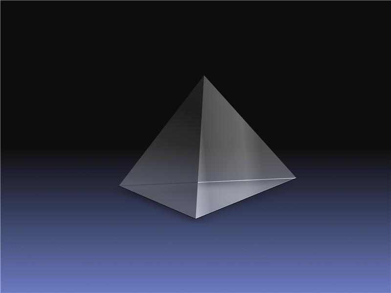 Transparent 3-D pyramid