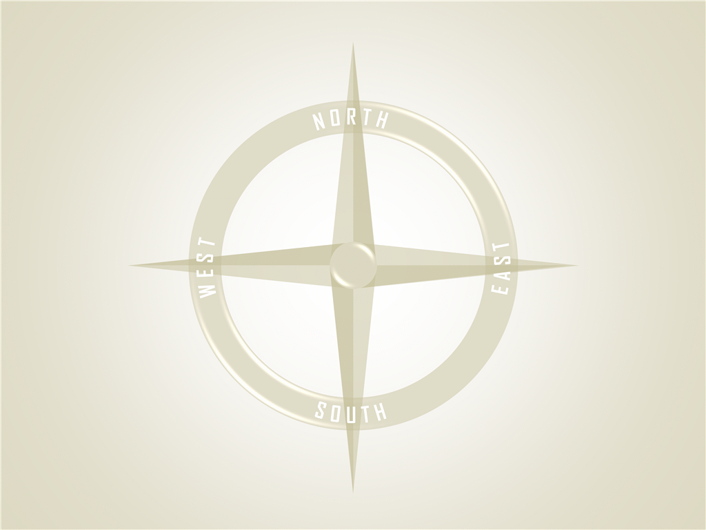 Compass with highlights
