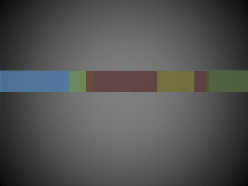Animated overlapping color bars