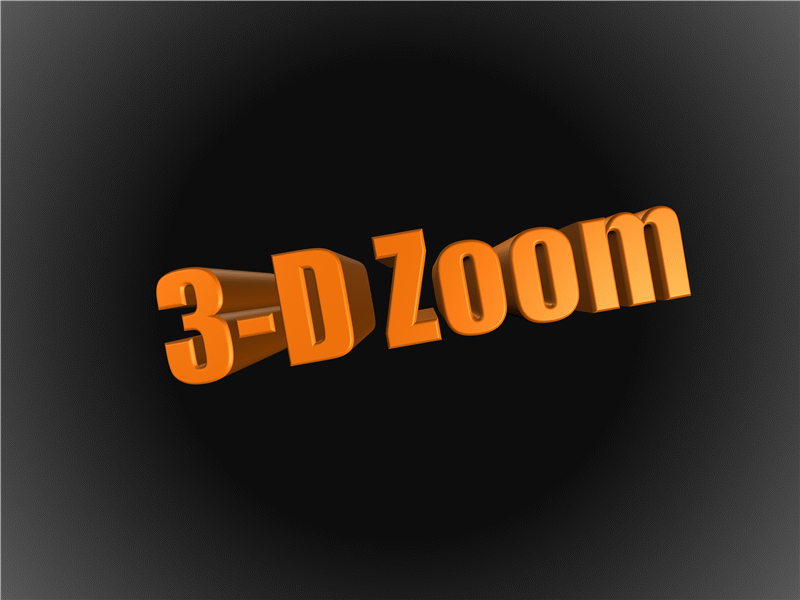 Exploded 3-D text