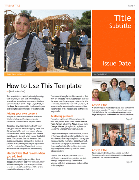 Perfect Newsletter Idea Microsoft Word Newsletter Templates Free Download