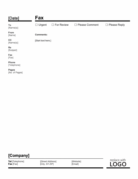 Basic Fax Cover Office Templates – Fax Coverletter