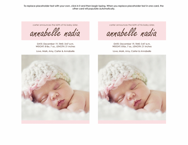 New Baby Girl Announcement Office Templates – How to Announce Baby Girl