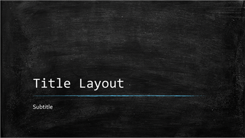 chalkboard education presentation (widescreen) - office templates, Modern powerpoint