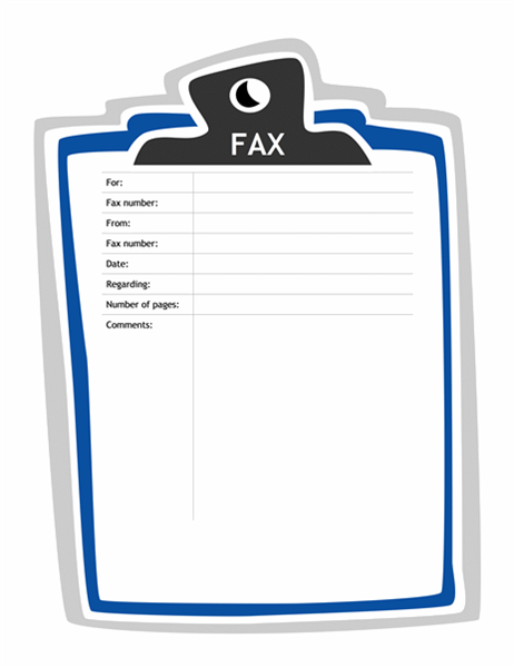 Fax cover sheet Clipboard design Office Templates – Fax Cover Sheets Template