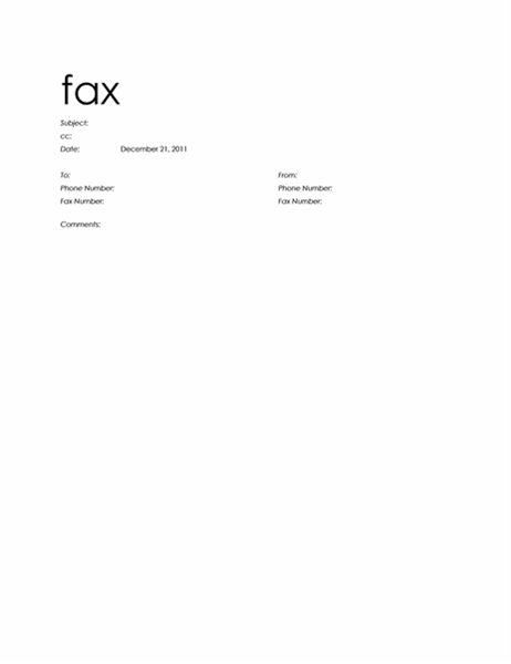 Fax Covers Office – Fax Covers