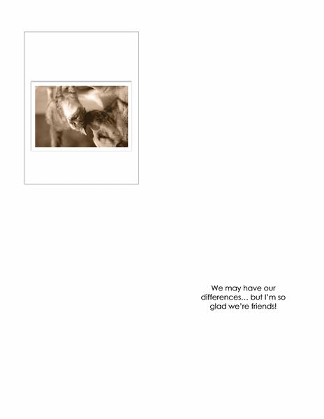 Friendship card (quarter-fold)