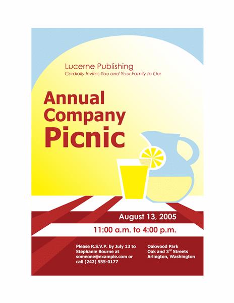 Company picnic invitation flyer