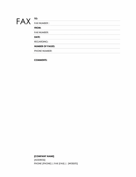 Fax cover sheet (Block design)