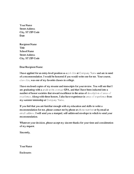 Reference Letter from Teacher fice Templates